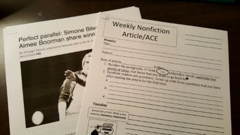 Weekly Nonfiction Response Packet