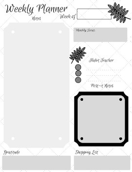 Weekly Notes Printable - Working Flylady Control Journal & Planner System