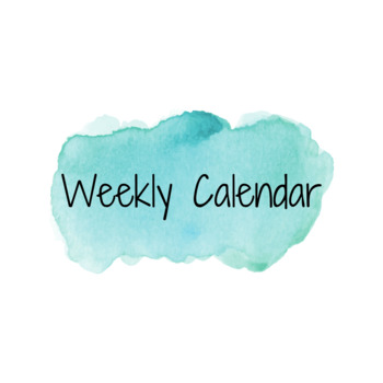 Weekly One Page Planner