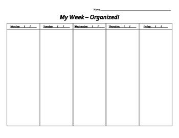 Weekly Organizational Chart