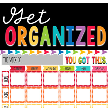 Weekly Organizational Forms FREEBIE