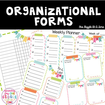 Weekly Organizational Set