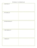Weekly Teacher Planner