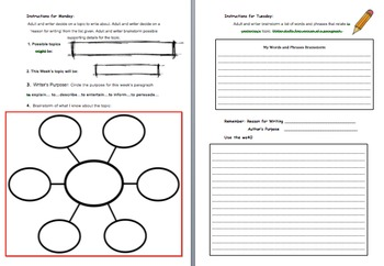 Weekly Paragraph Writing Mini-Unit
