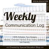 Weekly Parent Communication Log for Special Education