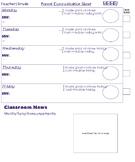 Weekly Parent Communication Sheet