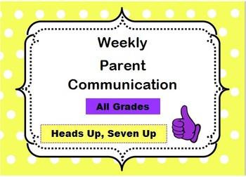 Weekly Parent Communication Slips