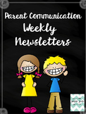 Weekly Parent Newsletters (Editable)
