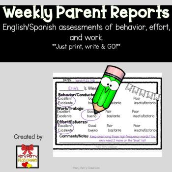 Weekly Parent Report FREEBIE