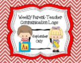 Weekly Parent-Teacher Communication Logs - SEPTEMBER ONLY