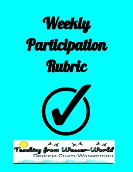 Weekly Participation Log & Grade Sheet