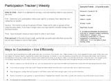 Participation Grade Tracker and Rubric