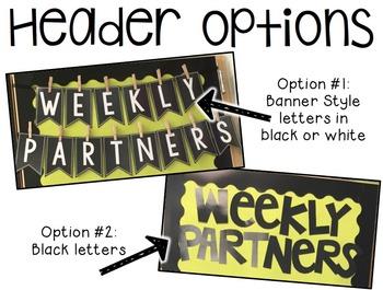 Weekly Partner Wall Display Pack