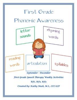 Weekly Common Core Phonemic Awareness Packet
