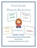 Weekly Common Core Phonemic Awareness Packet