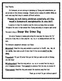 Weekly Phonics Homework: -ew, -oo, and - ue pattern