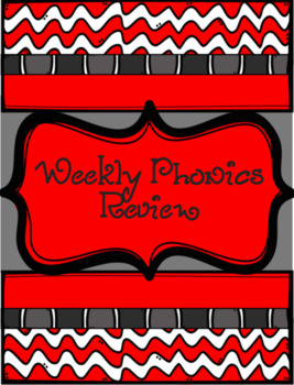 Weekly Phonics Review Middle Grades Whole Class / RTI Remediation Groups Sale!