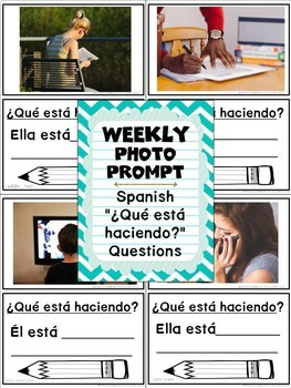 Bilingual Weekly Photo Prompt: 30 Actions  in English & Spanish BUNDLE
