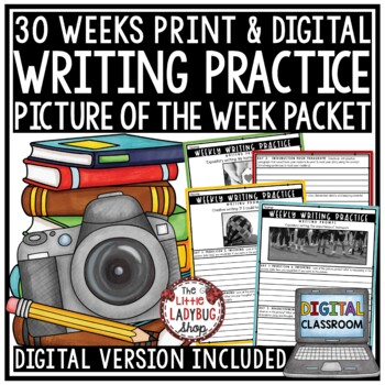 Writing Prompts - 4th Grade, 3rd Grade, 5th Grade- Writing Practice Unit