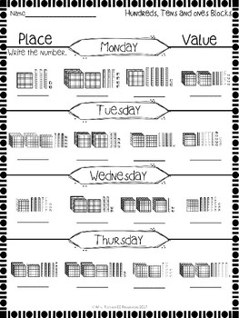 Weekly Place Value Worksheets