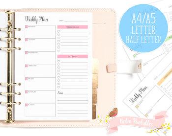 Weekly Plan Printable Planner Insert