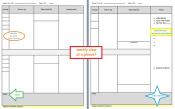 Weekly Plan Template - Customizable