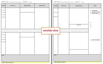 Weekly Plan Template - Customizable