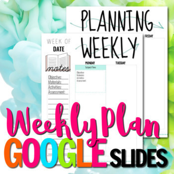 Weekly Plan Template for Google Slides