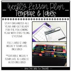 Weekly Plan Templates and File Label Organizational Tool (Editable)