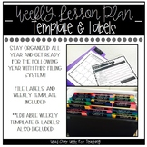 Weekly Plan Templates and File Label Organizational Tool (