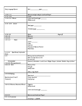 Weekly Plan book