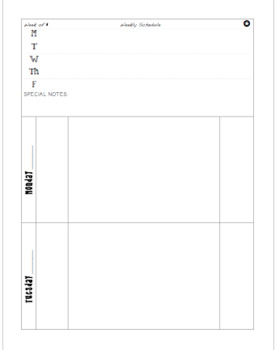 Weekly Planbook Page PDF