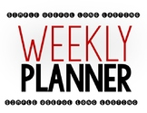 Spacious Weekly Planner for Students, Teachers, Staff; Options for All!