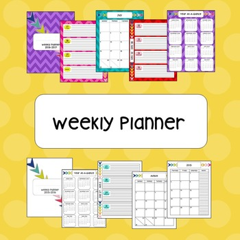 Weekly Planner - Updated for 16-17 Year