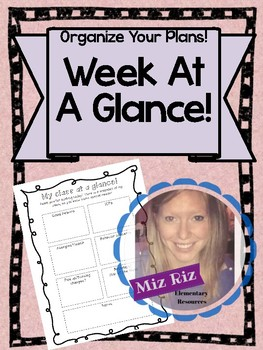 Week At A Glance Planner!