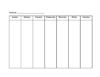 Weekly Planner Activity