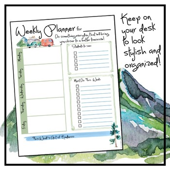 Weekly Planner - Adventure Theme Freebie