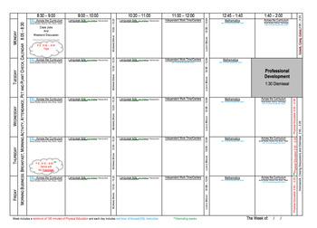 """""""Plan My Week"""" Weekly Planner (Binder Insert)"""