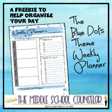 Weekly Planner - Blue Dots Theme Freebie