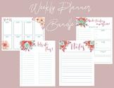 Weekly Planner Bundle/Floral Planner