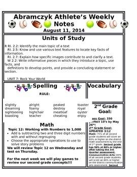 Weekly Planner - Classoom News