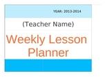 Weekly Planner- Excel version