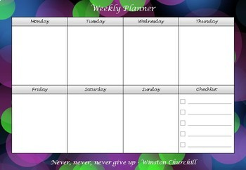 Weekly Planner FREE - Back to School