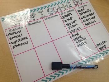 Weekly Planner {FREEBIE}