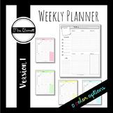 Weekly Planner (Version 1)