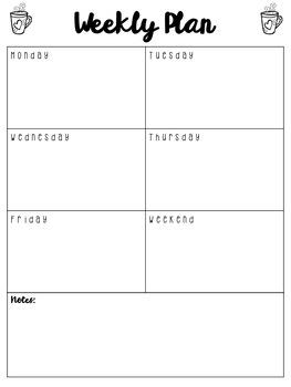 Weekly Planner Freebie