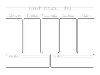 Weekly Planner Graphic Art