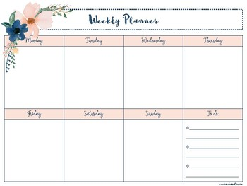 photograph about Free Weekly Planner named Free of charge Weekly Planner- Landscape