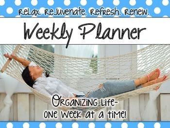 Weekly Planner - Large Polka Dot