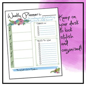 Weekly Planner - Magic Florals Theme Freebie